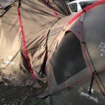 スノーピークテント ドックドームとリビングシェルのドッキングシステムを試してみました。