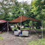 軽井沢スウィートグラスで久しぶりの初夏キャンプ。コロナに負けるな。(2020.7.24-26)